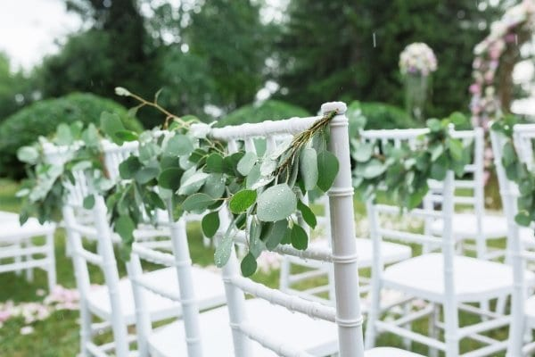 Rental chairs for outdoor wedding